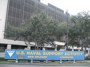 Naval Support Activity New Orleans - Image: Naval Support Activity New Orleans (East Bank) Gate Sign