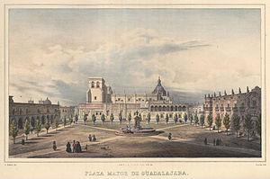 Timeline of Guadalajara - Plaza Mayor, Guadalajara, ca.1830s