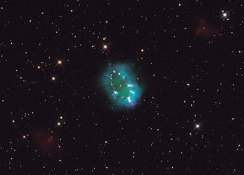 The Necklace Nebula consists of a bright ring,...