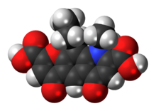 Space-filling model of the nedocromil molecule