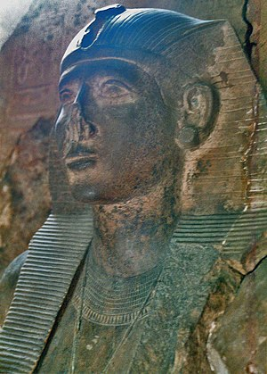 S 9 (Abydos) - Statue of Neferhotep I from a naos found in Karnak but possibly originating from S9.