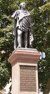 Denkmal Friedrich WilhelmsII. in Neuruppin (Quelle: Wikimedia)