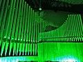 Neusäß, St. Ägidius (Hindelang-Orgel bei Nacht, grün) (2).jpg