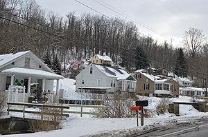 New Alexandria, Ohio - Houses on New Alexandria Road.