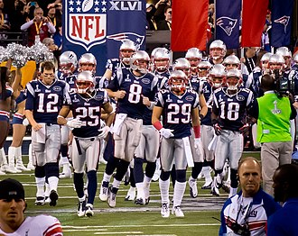 The New England Patriots are the most popular professional sports team in New England New England Patriots grand entrance (6837539245).jpg