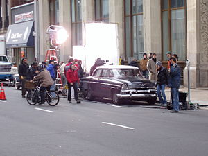 Principal photography - Film production on location in Newark, New Jersey, April 2004.