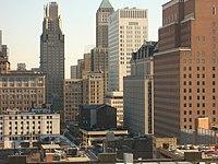 Newark skyline Prudential Headquarters.jpg