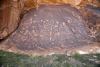 Newspaper Rock State Historic Monument - Newspaper Rock in 2009