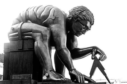 Newton Statue Eduardo Paolozzi