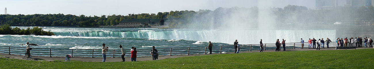 Panoramic American view of the Horseshoe Falls.