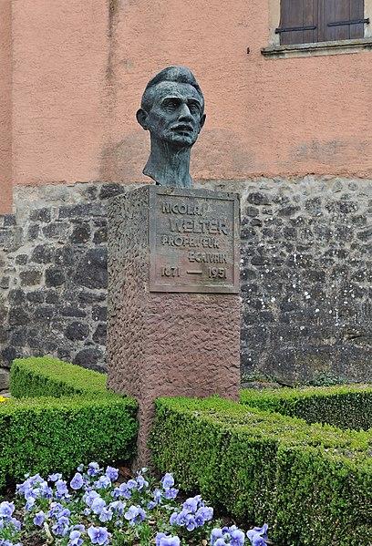 Nicolas Welter monument in Mersch.