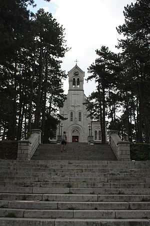 Nikšić - An Orthodox church in Nikšić