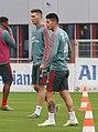 Niklas Suele James Rodriguez Training 2019-04-10 FC Bayern Muenchen-1.jpg