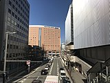 中央奥の建物が西鉄ホテル クルーム博多