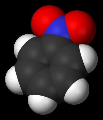 Nitrobenzene - Image: Nitrobenzene 3D vd W