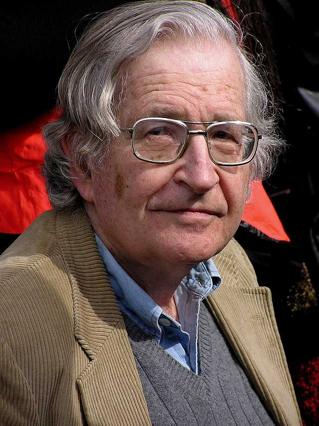 From commons.wikimedia.org: Noam Chomsky, 2004 {MID-224112}
