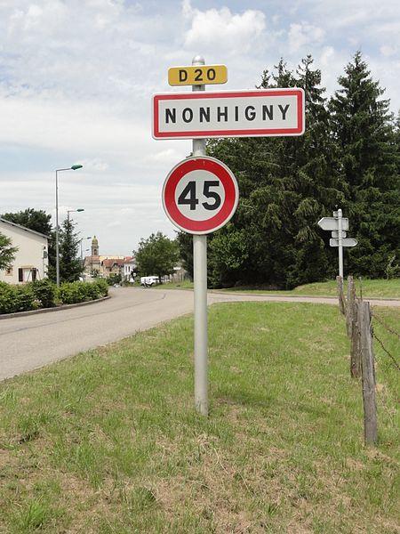 Nonhigny (M-et-M) city limit sign