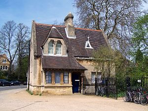 The North Lodge of the Oxford University Parks...