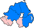 Northern Ireland 1899 non-administrative counties flood damage 24 July 2007.png