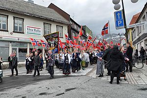 National identity - Norwegians celebrating national day.