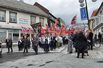 National identity - Norwegians celebrating national day