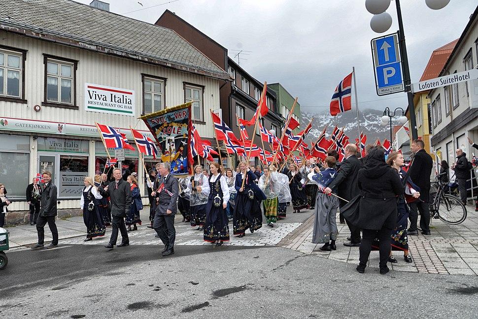 Norwegian National Day in Svolvaer