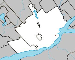 Notre-Dame-des-Anges, Quebec - Image: Notre Dame des Anges Quebec location diagram