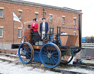 Tank locomotive - A modern replica of ''Novelty'', the first tank locomotive