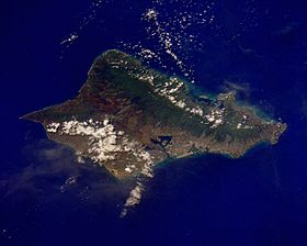 Image satellite d'Oahu.