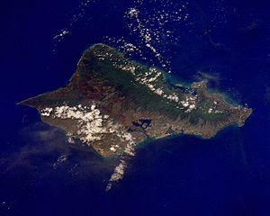 Oʻahu aus dem Weltall