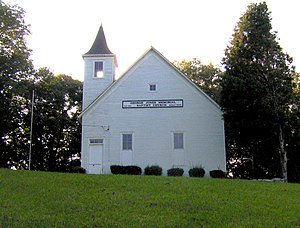 Oak Ridge, Tennessee - George Jones Memorial Baptist Church, built by the residents of Wheat in 1901