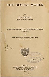 <i>The Occult World</i> book