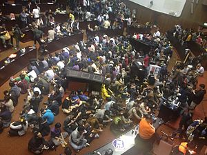 Sunflower Student Movement - Image: Occupy Taiwan Legislature