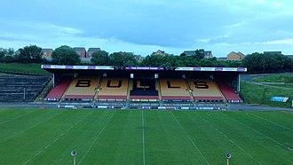 Odsal Stadium - Image: Odsal main stand