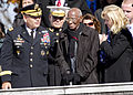 Officials attend a wreath-laying ceremony as part of Veterans Day events at the Tomb of the Unknowns at Arlington National Cemetery in Arlington, Va., Nov. 11, 2013 131111-D-HU462-450.jpg