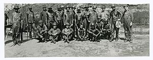 History of oil in California through 1930 - Oil crew in Coyote fields, California