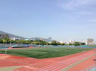 Kobe Oji Stadium building in Nada-ku, Hyogo Prefecture, Japan