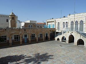 Umariya Elementary School - the courtyard of the school
