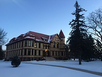 North Dakota State University - Old Main in a Winter Morning