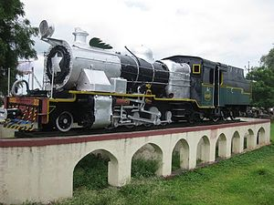 Baramati - Image: Old Steam engine (Imported by India in Year 1957) at Baramati Railway Station