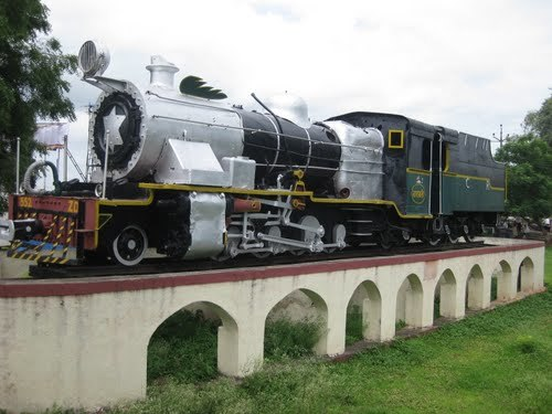 Old Steam engine (Imported by India in Year 1957) at Baramati Railway Station