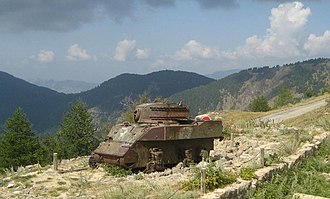 Second Battle of the Alps - Image: Old tank at authion