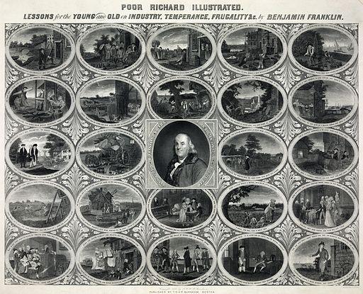 Oliver Pelton - Benjamin Franklin - Poor Richard's Almanac Illustrated