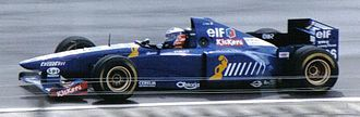 Olivier Panis - Panis driving for Ligier at the 1995 British Grand Prix.