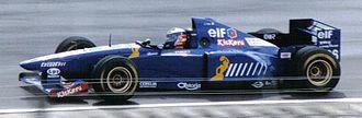 Guy Ligier - Oliver Panis in 1995.
