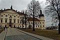 Olomouc - Sušilovo náměstí - View NNE on Klášter Hradisko - Vojenská nemocnice Olomouc.jpg