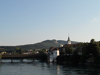Olten - Aare river at the old city of Olten