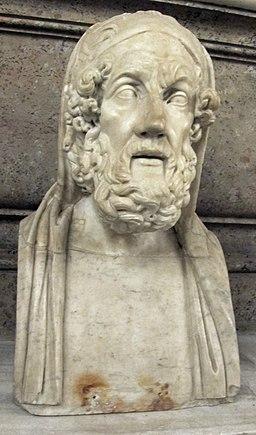 Omero, da originale ellenistico del II sec. ac., collez albani