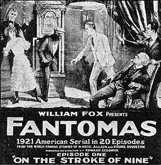 Fantômas (1920 serial) - Advertisement for the first episode (1920)