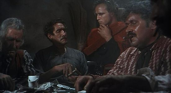 Nacho Galindo (right) with Marlon Brando in One-Eyed Jacks (1961).